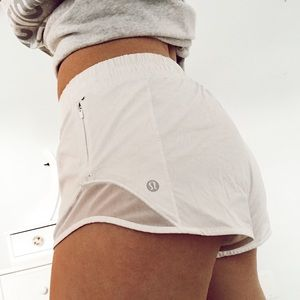 white lululemon shorts